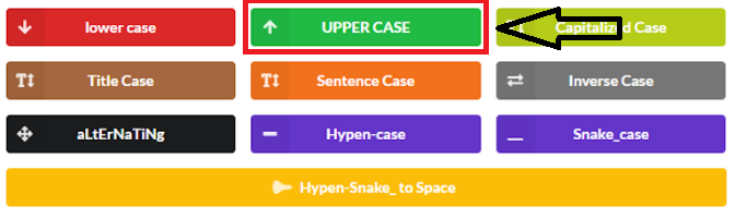 Easy Case Converter - Uppercase Button