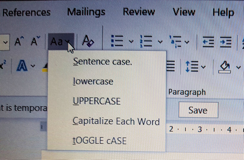 Easy Case Converter - Change Case Button in MS Word