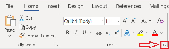 Easy Case Converter - Font Options in MS Word