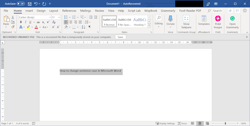 Easy Case Converter - How to Change Sentence Case in MS Word
